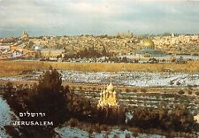 BR4202 jerusalem Covered with snow seen from mt of olives   israel