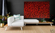 ruby red dreaming fish art painting large canvas  Australia COA aboriginal