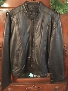 AMERICAN Leather Industries Black Leather MOTORCYCLE Jacket FREE SHIPPING!
