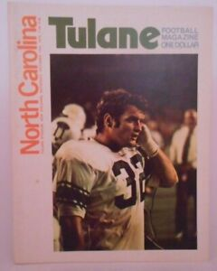 Vintage 1970 Tulane Green Wave v. North Carolina Tarheels Football Program