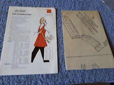 Vintage 1970s Silver Needles sewing pattern No: 10 Lady's longline jerkin uncut