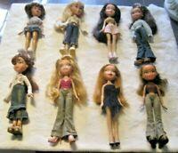 Bratz Doll Lot ~ 8 Fully Dressed Dolls with Footwear Lot (3)
