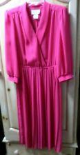 Vintage Leslie Fay Dress Women's Size 14-Rose-Euc