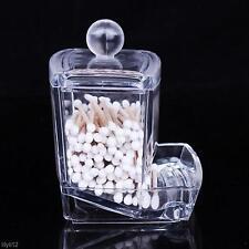 Cotton Swabs Stick Holder Bin Storage Organizer Cosmetic Makeup Box Caddy Case