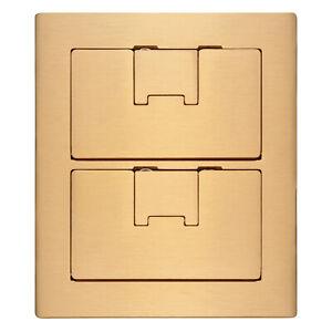 Carlon E9762BR Two Gang Cover Brass For Use W/ 2 Carlon Floor Boxes NEW Lamson