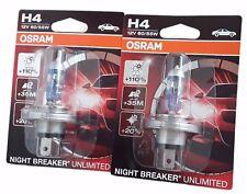 H4 OSRAM Night Breaker Unlimited 110% Einzelblister 2 Stück P43t 64193NBU-01B