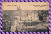 CPA 63 - CLERMONT-FERRAND - place jaune - le theatre et la cathedrale