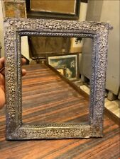 Ancient Wood Silver Floral Carving Fitted Royal Beautiful Photo Frame Mirror