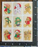 CHRISTMAS BEARS ONE SHEET BEAUTIFUL STATIONARY STICKERS #INVIERNO7