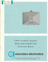 ANACONDA ELECTRONICS Manual CATV Trunkline Amplifier 8830 & 8831