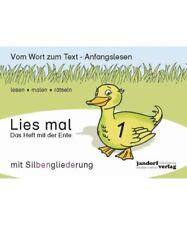 """Peter Wachendorf, Jan Debbrecht """"Lies mal 1 (mit Silbengliederung) - Das Heft mi"""