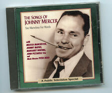 Too Marvelous for Words: The Songs of Johnny Mercer by Various Artists (CD, Oct-