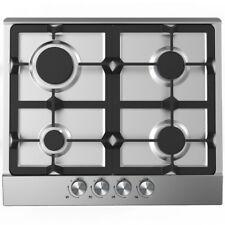 Cookology GH605SS 60 cm Built-En acier inoxydable plaque de cuisson au gaz & Poêle en fonte prend en charge