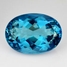 7.40Cts Natural Swizz Blue Topaz 14x10x7mm Oval Cut Collection Brazil Gemstone