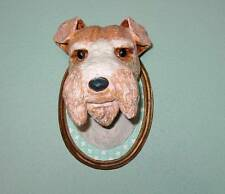 Cody Foster Wire Haired Fox Terrier Dog Paper Mache Dog Show Plaque Cool!