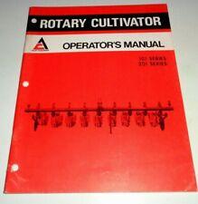 Allis Chalmers 101 201 Series Rotary Cultivator Operators Manual Ac Original
