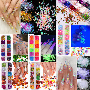 Nail Sequins Nail Art Flakes Multistyle Star Butterfly Foil 3D Laser Holographic