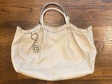 GUCCI Guccissima Sukey X-Large Off White Leather Tote Bag/Purse $1500 Pristine