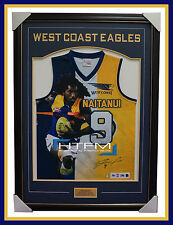 Nic Naitanui Signed West Coast Eagles Impact Limited Edition Jumper Framed AFL
