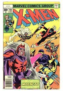 X-Men 104 Vs. Magneto! Claremont Cockrum 1977 Marvel Comics B909