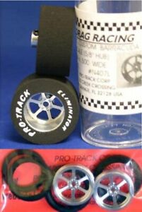 """Pro Track """"Roadster"""" 1 1/16"""" x .500 wd Matching Rr & Ft Drag 1/24 Slot Car Tire"""