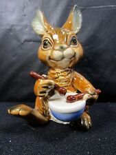 WEST GERMANY - GOEBEL - Bunny Rabbit Playing Drums FIGURINE