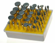 50 Assorted Diamond Coated Rotary Grinding Head Burr Set Grit 1/8 Inch Shank