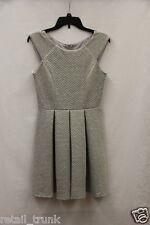 City Studio Juniors' Sleeveless Quilted Pleated Dress, Heather Grey, 3
