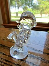 "3"" Precious Moments 24% Crystal Skater Samuel Butcher Figurine # 637440 Germany"