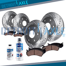 Rainier SSR Trailblazer EXT Ascender Front Rear DRILLED Brake Rotors Ceramic Pad