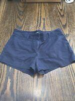 J Crew J. Dark Navy Blue City Fit Shorts Khaki Dress Pants Bottoms Size 8 Soft