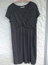 Laura Ashley Sommer Wickeloptik  Kleid Gr.44/46 Schw./ Weiß gepunktet NEU