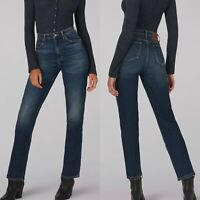 LEE Vintage Modern High Rise Straight Leg Ankle Jeans Size 26 Loco NWT $98