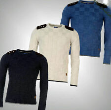 Mens Smith And Jones Styled Long Sleeves Knitwear Saunders Jumper Top Size M-XL