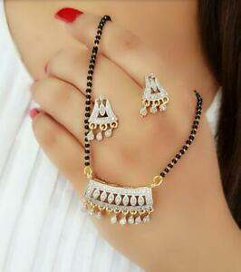 Indian Traditional Mangalsutra Earrings Pendant Settings Ethnic Jewelry Women