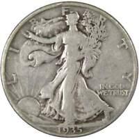 1935 D Liberty Walking Half Dollar VG Very Good 90% Silver 50c US Coin