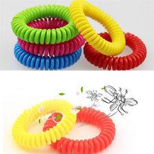 Mosquito Repellent Bracelets Natural Deet Free Waterproof Spiral Wrist Bands  GN