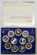 ITALIA REPUBBLICA DIVISIONALE PROOF FS 1988 500 LIRE ARGENTO DON BOSCO