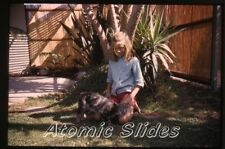 1960s 35mm Photo slide girl with cat #2
