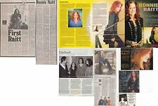 BONNIE RAITT : CUTTINGS COLLECTION -adverts interviews-