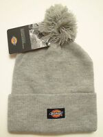Dickies Beanie Winter Hat Mens 14 Inch Rolled Cuff Double Layer Skull Cap Pom
