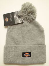 Dickies Men's 14 Inch Rolled Cuff Double Layer Knit Skull Cap with Pom Heather
