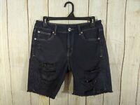 American Eagle Womens Size 4 Black Distressed Tomgirl Bermuda Shorts