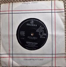 "CLIFF RICHARD - CONGRATULATIONS / HIGH N DRY, UK 7"" 45 RPM VINYL SINGLE"