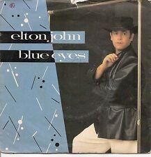 """45 TOURS / 7"""" SINGLE PROMO--ELTON JOHN--BLUE EYES / HEY PAPA LEGBA--1982"""