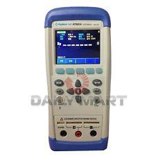 Applent New At824 Digital Handheld Lcr Meter Tester Touch Screen 100120hz 1khz