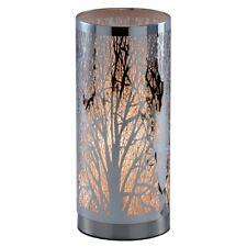 Tischlampe AST - Baummotiv - Rund - Silber - Touchfunktion - Dimmer - Leuchte