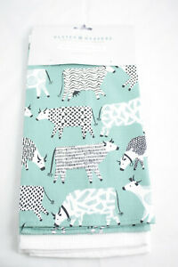 Ulster Weavers ~ CURIOUS COWS ~ kitchen tea towels pair BNWT pack of 2