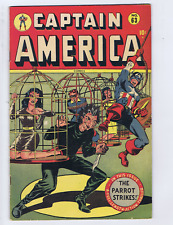 Captain America #63 Timely 1947 Origin/1st app Asbestos Lady