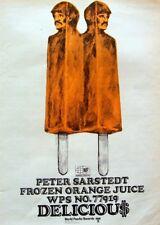 PETER SARSTEDT 1969 original POSTER ADVERT FROZEN ORANGE JUICE